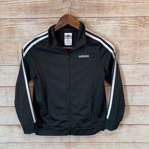 Adidas girls black and white jacket size L (14)